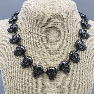 Betsey Johnson Black Skull Necklace